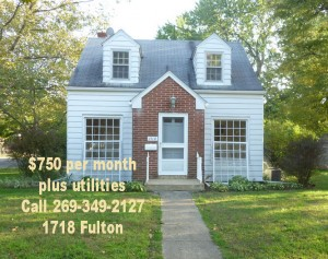 1718 Fulton for rent with rent price in the ad