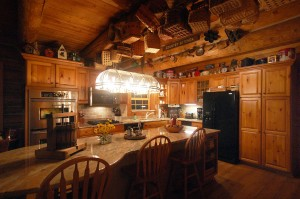 kitchen of fabulous log home for sale