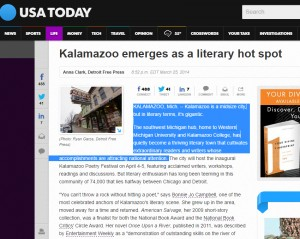 Kalamazoo in the USA Today