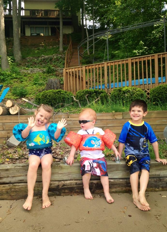 """Kids enjoying the lake - Get a free list of lake homes for sale at LakeList.Kalamazoo-real-estate.com"""