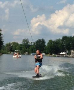 Waterskier from OwnLakeHome.com, a website of all Kalamazoo and Grand Rapids Lake Homes for Sale