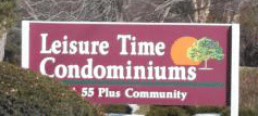 Sign from Leisure Time Condos