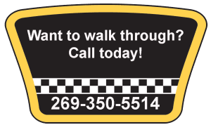 Image givin phone number for walk throuh 269-350-5514
