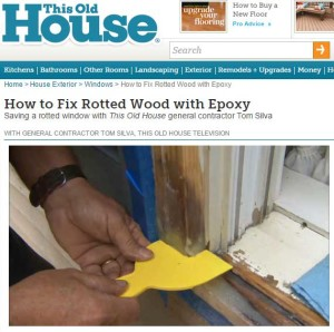 Repair Rotten Wood with Epoxy